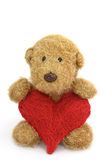 Teddy bear toy with heart Royalty Free Stock Image