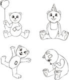 Teddy Bear Toy Sketches Royalty Free Stock Photography