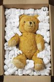 Teddy bear transport Royalty Free Stock Photography
