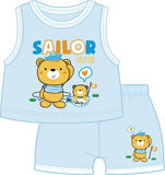 Teddy bear twin brothers dressed as sailors. In teddy land Royalty Free Stock Photos