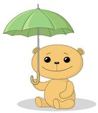Teddy bear and umbrella Royalty Free Stock Photo