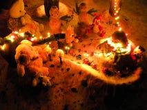 Teddy bear under the tree Stock Photo