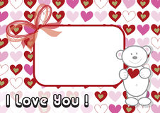 Teddy bear valentine Royalty Free Stock Image