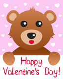 Teddy Bear Valentine s Day Card Royalty Free Stock Photos
