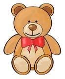 Teddy Bear Valentine-` s Tageskarte stock abbildung