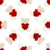 Teddy Bear Valentines Day Card Image stock