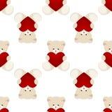 Teddy Bear Valentines Day Card Royalty Free Stock Photos