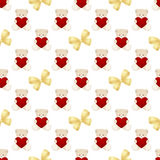 Teddy Bear Valentines Day Card Stock Photography