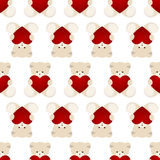 Teddy Bear Valentines Day Card Stock Images