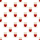 Teddy Bear Valentines Day Card Royalty Free Stock Image