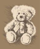 Teddy bear. Vector image of a teddy bear. Illustration Stock Image