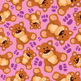 Teddy bear vector seamless pattern Stock Image