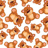 Teddy bear vector seamless pattern Stock Photo