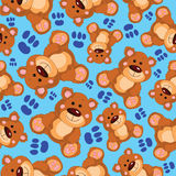 Teddy bear vector seamless pattern Royalty Free Stock Images