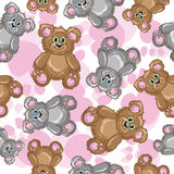 Teddy bear vector seamless pattern Royalty Free Stock Photos