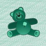 Teddy Bear vert Photographie stock