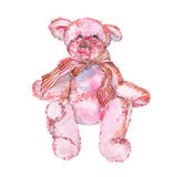 Teddy Bear. Watercolor illustration Stock Photos