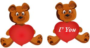 Teddy Bear whith heart Stock Images