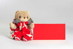 Teddy bear wish you happy chinese new year Royalty Free Stock Photo