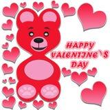 Teddy Bear /wishes el día de tarjeta del día de San Valentín Foto de archivo libre de regalías