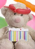 Teddy Bear With Gift Box Stock Image
