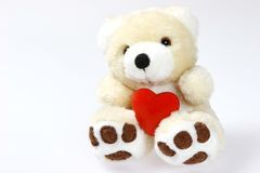 Teddy Bear With Heart And Space Royalty Free Stock Photos