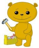 Teddy bear worker royalty free illustration