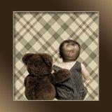 Teddy Bear y bebé imagen de archivo