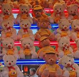 Teddy bears. Side-show Royalty Free Stock Photo