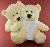 Teddy bears. A pair of teddy bears close together Stock Photography