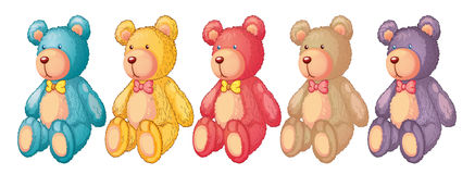 Teddy bears. Illustration of teddy bears on a white background Stock Image