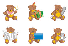Teddy bears. Vector illustration of a teddy bears Stock Images