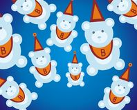 Teddy bears. Background illustration Stock Photo