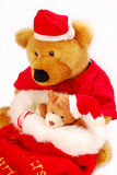 Teddy bears as christmas gift Royalty Free Stock Photography
