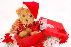 Teddy bears as christmas gift Stock Photography
