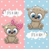 Teddy Bears boy and girl Royalty Free Stock Photo