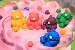Teddy bears cake Stock Photo
