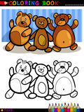 Teddy Bears cartoon for coloring Stock Photography