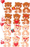 Teddy Bears Characters Set Illustration Libre de Droits