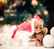 Teddy bears in christmas still life Royalty Free Stock Photo