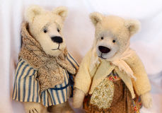 Teddy Bears Couple Stock Photos