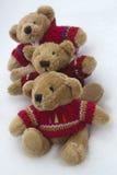 Teddy Bears in de Sneeuw Royalty-vrije Stock Afbeeldingen