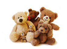 Teddy bears family royalty free stock photography