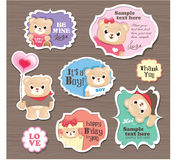 Teddy Bears gift tag. / sticker/ greeting card Stock Photography