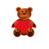 Teddy bears Happy Valentines Day Royalty Free Stock Images