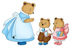 Teddy Bears Illustration Royalty Free Stock Images
