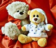 Teddy bears. Just friends two teddy bears Stock Photo