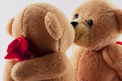 Teddy bears kissing Stock Image