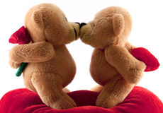 Teddy bears kissing Royalty Free Stock Photo