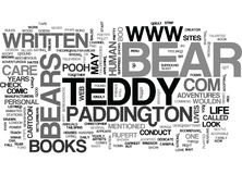 Teddy Bears Life Word Cloud Images stock